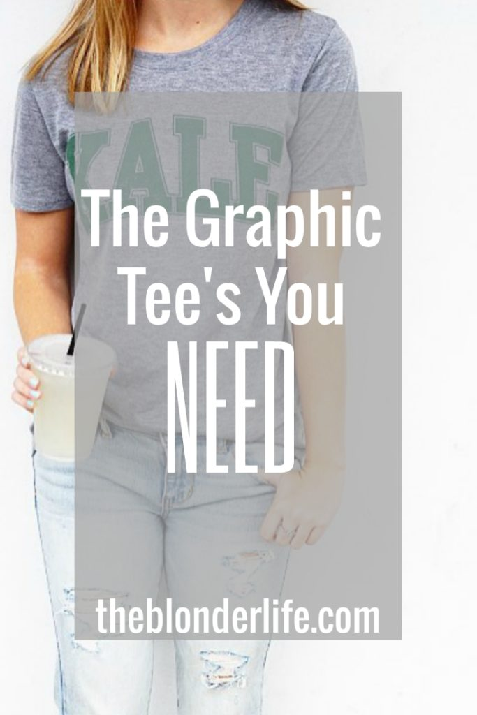 8 Graphic Tee's You Need In Your Closet