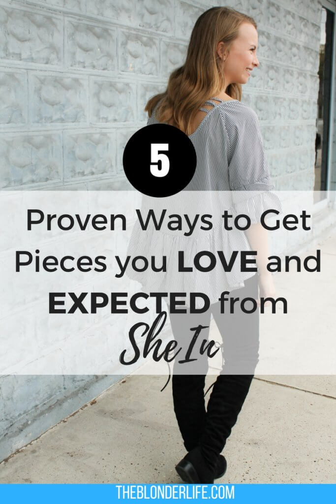 5 proven methods I have used and tested while shopping at SheIn! Tips and tricks to ensure you get the pieces you expected and love! 5 Tips for being happy with your purchases from shein.com