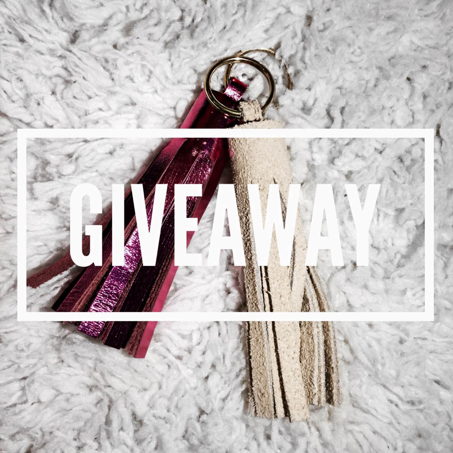 Visit theblonderlife.com to win one of these suede tassel keychains!
