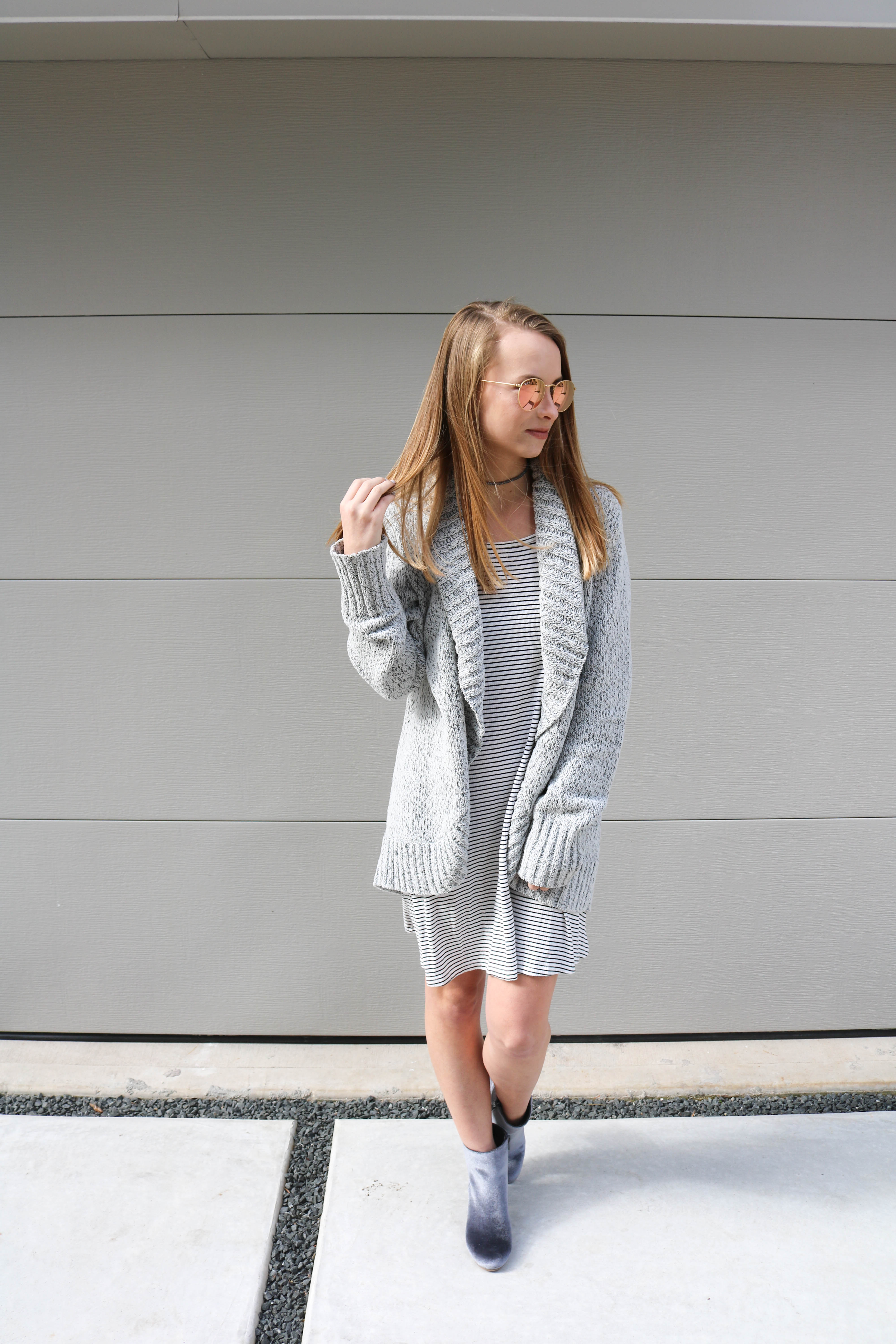 Chenille Cocoon Cardigan - The Blonder Life | The comfiest cardigan you will ever find, and now under $30!