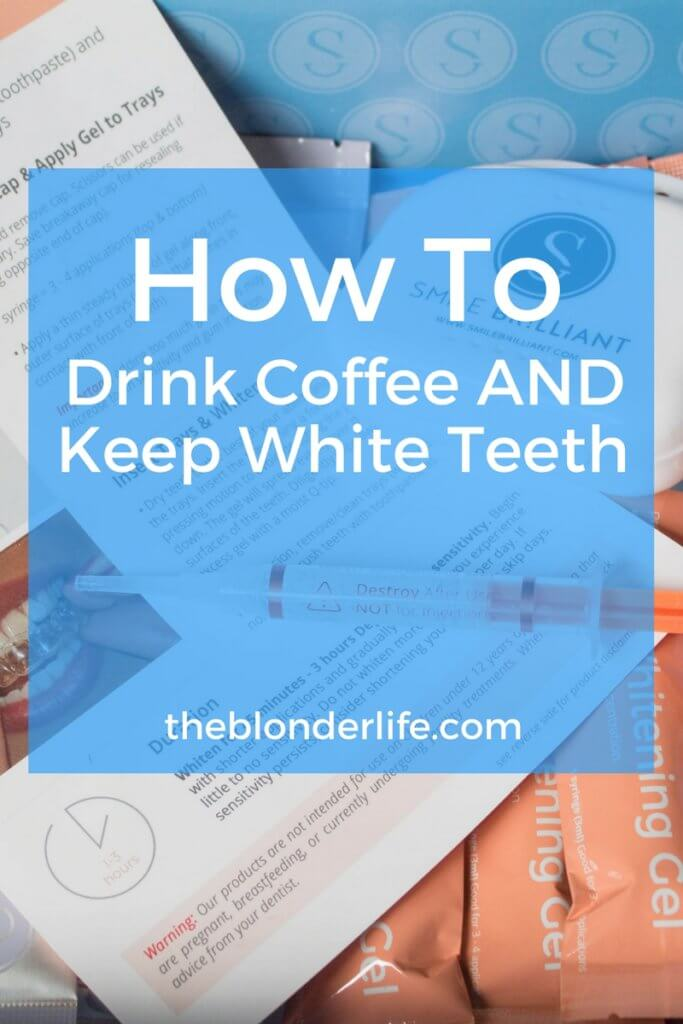 An at home way to whiten your teeth. Whiten your teeth from the comfort of your own home, and don't spend an alarming amount on different procedures! Read about my process with Smile Brilliant, and why I can continue to drink coffee without feeling guilty!