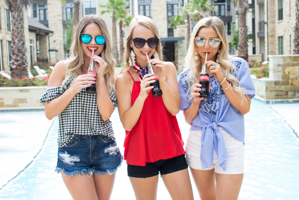 Sharing 3 outfit ideas for the Fourth of July. Inspiration for outfit ideas for the Fourth. Easy to copy outfit ideas for the Fourth | The Blonder Life