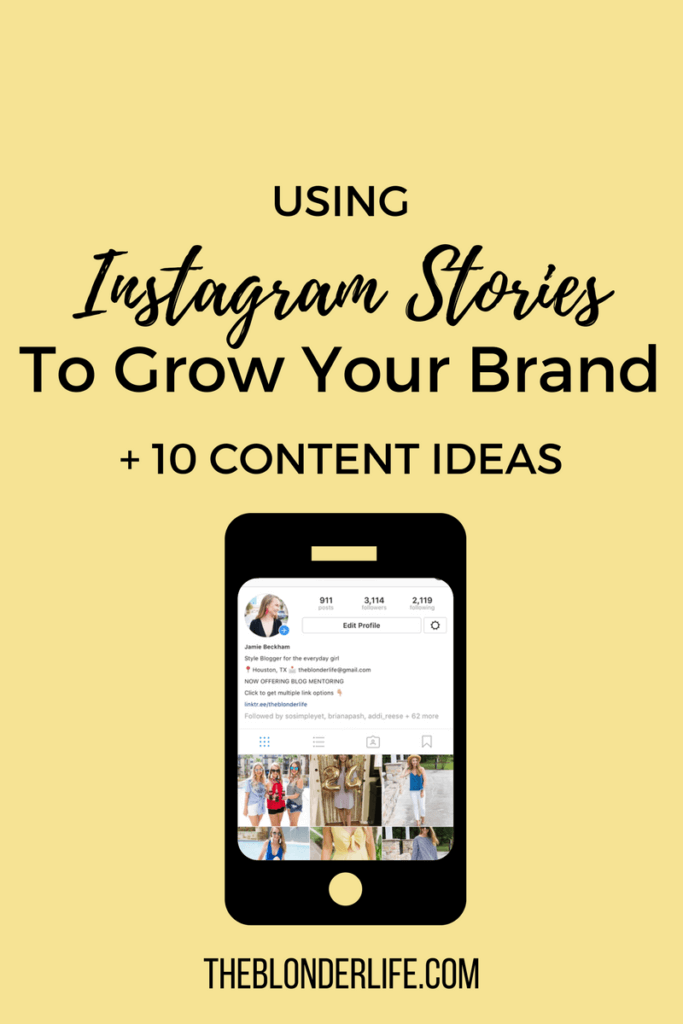 10 + content ideas for Instagram Stories and how to build your brand via stories. Engage with your ideal audience in a more authentic way using Instagram Stories. What to post on Instagram Stories and how to build your brand | The Blonder Life