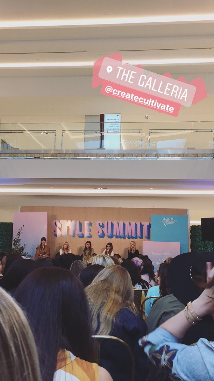 Weekend at Create and Cultivate. Houston blogging conference. Style summit at Houston galleria | The Blonder Life
