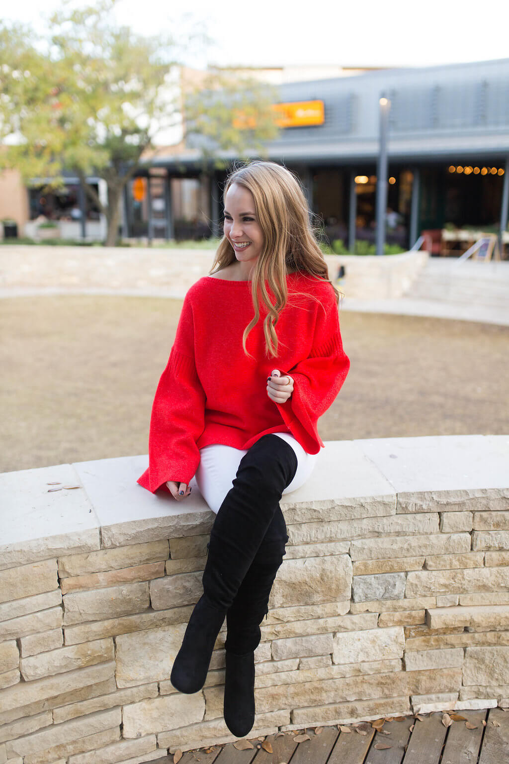 Bell sleeve sweater for every occasion. The perfect holiday sweater for under $100 | The Blonder Life