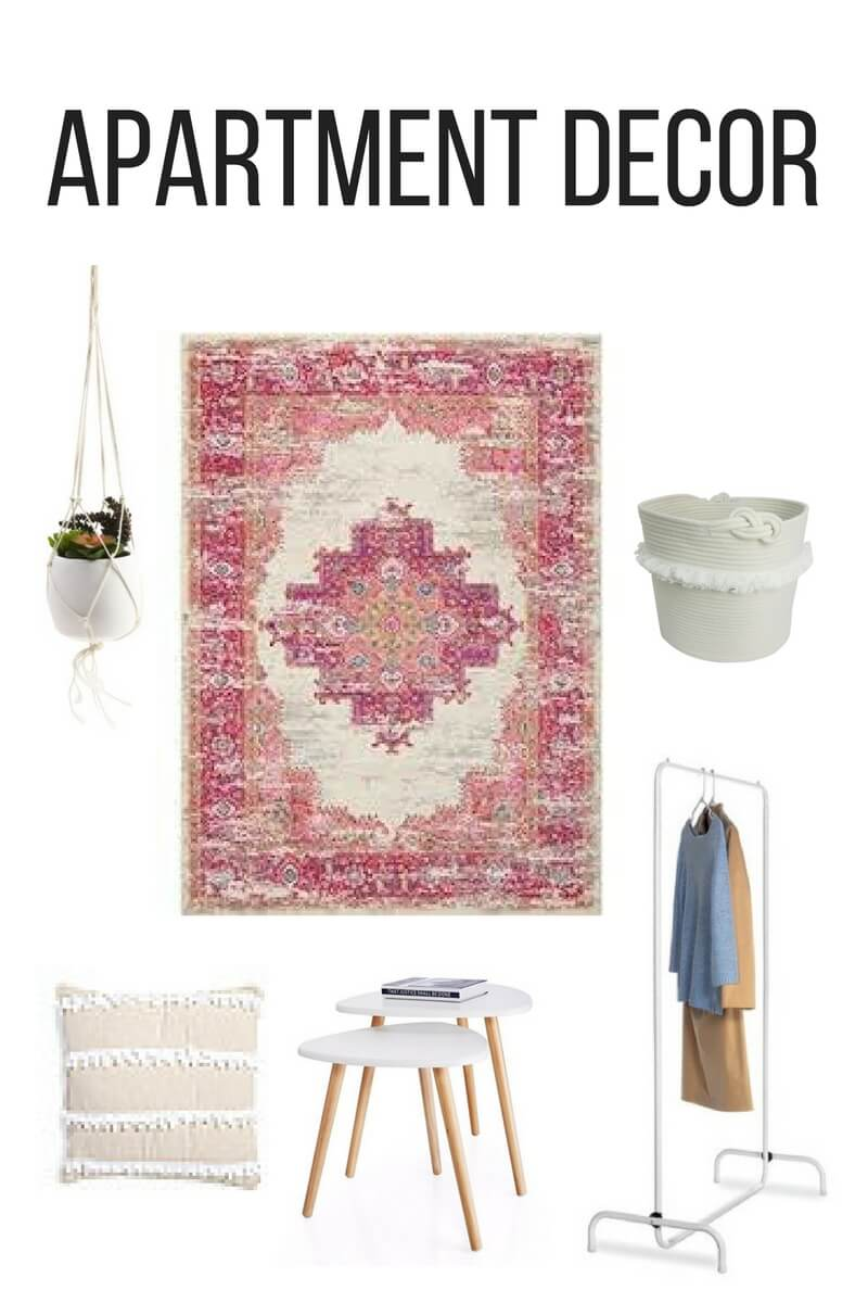 Apartment Decor for a bohemian styled one bedroom apartment | The Blonder Life